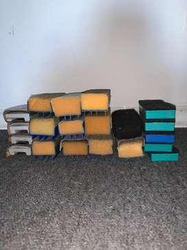 1 Pack con 35 Borradores de pizarra usados