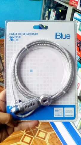 CABLE DE SEGURIDAD iBlue PARA LAPTOP UNIVERSAL DE 1.80m.