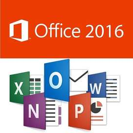 Office 2016 o 2019, DVD de Instalación, 32 y 64 bits para Windows