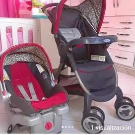 Coche de Bebe, con silla para vehiculo Marca: Gracco
