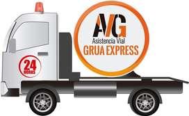 Servicio de gruas plataforma autocargable remolque para auto montacargas en Guayaquil Libertad Salinas Playas Grua