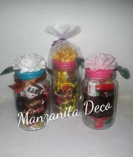 Frascos con bombones especial regalo