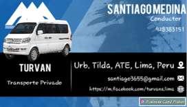 Movilidad Privada / Transporte de Personal / Taxi vans.