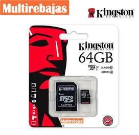 Tarjeta Micro Sd 64gb De Memoria Kingston