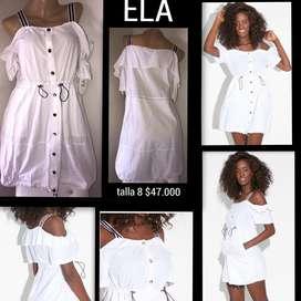 Vestido ela blanco