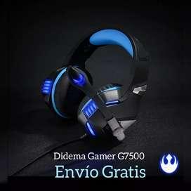 DIADEMA GAMER PRO G7500, AUDIO Y MICROFONO TRAE CONVERTIDOR