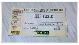Entrada Deep Purple en Argentina - Año 2006