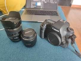 Canon EOS 6D Full Frame + 28 - 105 mm + 50 mm 1.8 + Accesorios