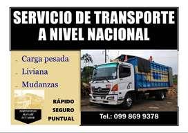 Camión de mudanza y transporte de carga dentro y fuera de la provincia