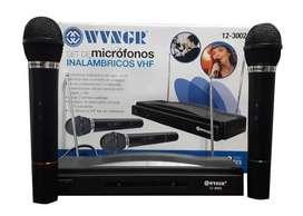 Set 2 Micrófonos Inalámbricos Doble Profesional Karaoke Cba