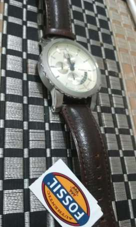 Fossil Original Crono Reloj cuero CRONOGRAFO