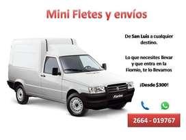Servicio de Minifletes, encomiendas y envios Hasta 500Kg
