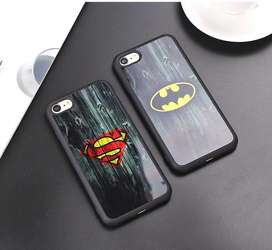 Funda Silicona Super Héroe Batman Superman iPhone 5,6,7,8