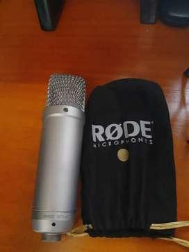 Micrófono de condensador RhodeNT1A+ Shock Mount// estado 10 de 10
