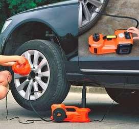 Gata Hidráulica automática + pistola de impacto eléctrica Cambiar un neumático nunca fue tan fácil!