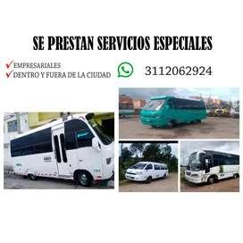Se prestan servicios de trasporte especiales