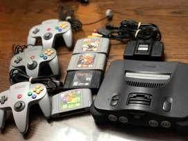 Nintendo 64 - 4 juegos - 3 controles vendo o cambio