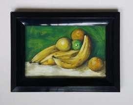 Bodegón pintura bananos y limones cuadro decorativo