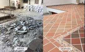 HACEMOS TRABAJOS DE ENCHAPE Y CONSTRUCCION EN GENERAL