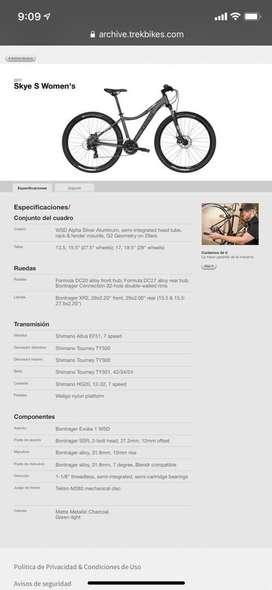 Bicicleta TREK skye 5