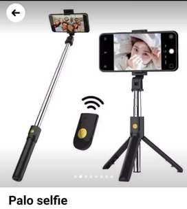 Palo selfie con con Bluetooth con botón inalámbrico