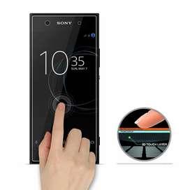 Estuche Silicona + Vidrio Templado Sony Xperia XA1