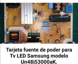 """Tarjeta fuente de poder para Tv samsung LED 48 """" modelo Un48j53000aK"""