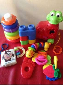 Lote de juguetes p/bebé