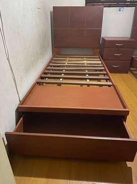 Se vende 2 camas de una plaza más velador.