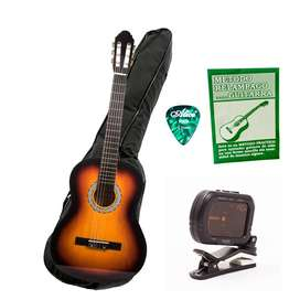 Combo Flamenco HC Music Box Colombia Guitarra Estuche Afinador Libro Pick