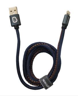 Cable En Jean Para iPhone 2.4a 1 Mt Brightside