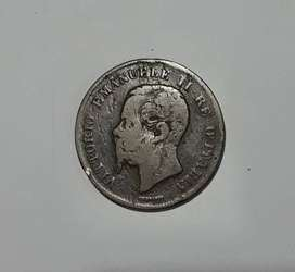 Antigua moneda italiana, 5 centesimi, 1861, G