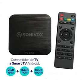 TV BOX Sonivox de 16 GB de Memoria 2 de RAM/Bluetooth