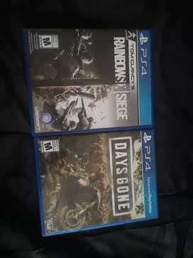 Vendo juegos days gone y raibonx six siege