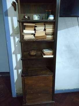 Biblioteca madera pintada