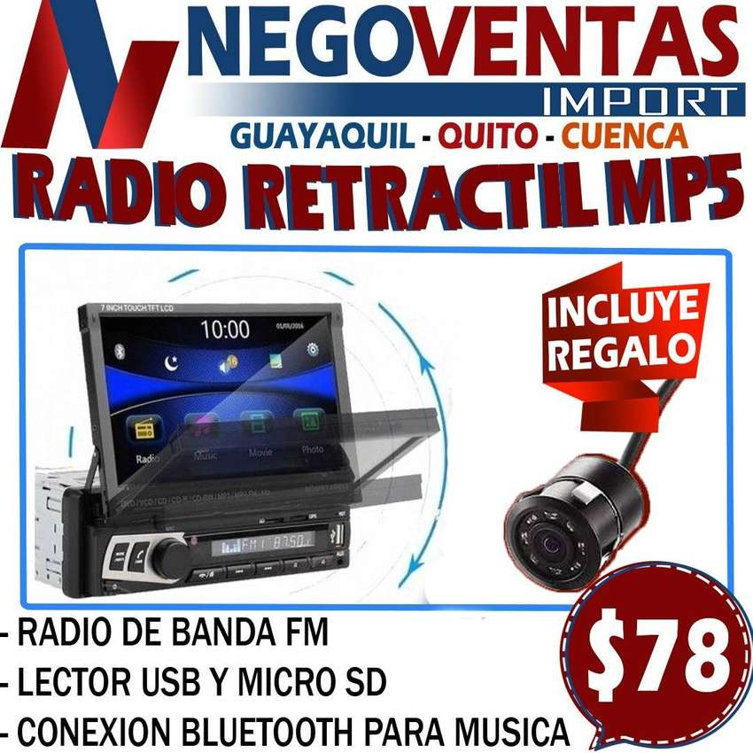 RADIO RETRACTIL MP5 CON CAMARA DE RETRO GRATIS 0