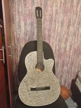 Guitarra acústica Gris