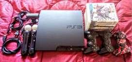 Playstation 3 Ps3 Slim 160gb Move 22 Juegos 5 Controles