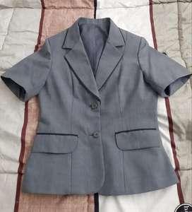 Saco Blazer Sastre Vestir Manga Corta Mujer S
