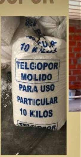 BOLSAS DE DE TELGOPOR MOLIDO