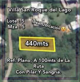 Vendo lote en San Roque con Pilar y Sangria