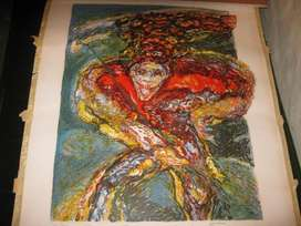 Serigrafía Congo Grande Jadeante de Loochkartt1979