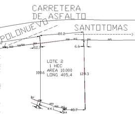 Vendo o Permuto Lote de 1 Hectaria entre Polonuevo y Santotomas