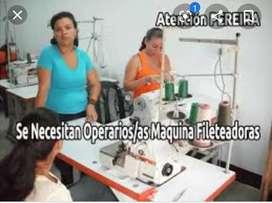 Se necesitan operarias de fileteadora ubicadas en Asturias 2