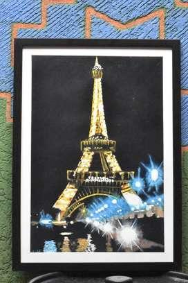 Cuadro Pintado con Acrílico sobre papel de Acuarela Imprimado