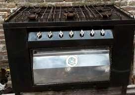 Vendo cocina 6 hornallas