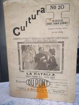 Portada de Periodico/Revista Antigua (1940)