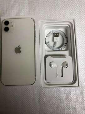 Iphone 11 blanco caja y accesorios