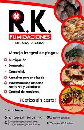 Fumigacion para el control de plagas
