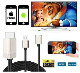Compatible con iPhone iPad Android Teléfonos MHL a HDMI Cable